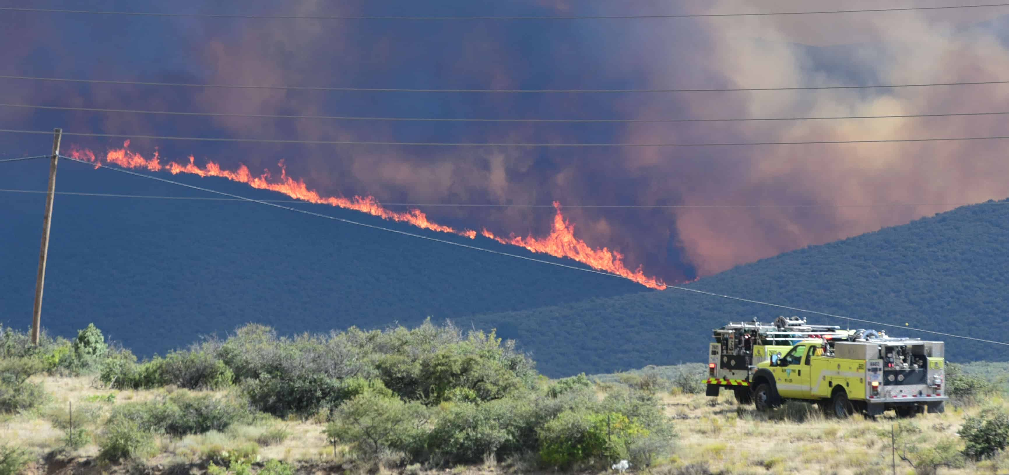 Orme Fire Burns 1,200 acres Seven Miles Northeast of Mayer